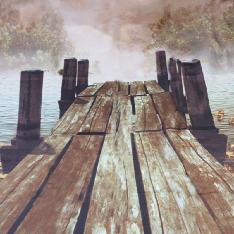 Buy Ocean Decor Fall Wooden Bridge Seasons House Paintings Bathroom ...