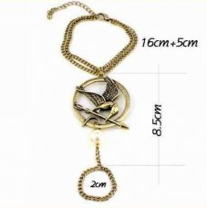 New The Hunger Games Conjoined Ring Bracelet Chain Bracelet Katniss Everdeen