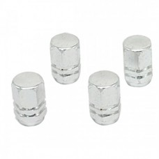 Alloy Car Auto Tyre Tire Valve Stem Covers Caps Silvery