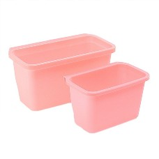 Multifuctional Plastic Kitchen Hanging Food Waste Garbage Bowl Bin Rubbish Organizer Small Size Pink