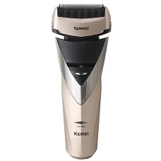 Beauty & Personal Care Men's Electric Shaver Razor Rinseable Power Charging Golden
