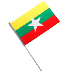 National Flag of Countries Hand Waving Flag with Pole 100pcs