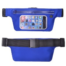 Outdoor Sport T Shaped Waist Bag Multi Function Waist Phone Bag Blue