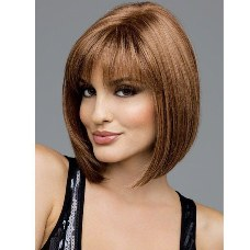 Womens Fashion Short Hair In the COS Wig Human Full Wigs High Temperature Silk