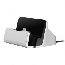 Charge+Sync Dock for Android Type C Devices Phone Holder Silver