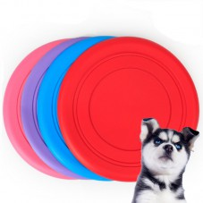 Dog Toys 18cm Silica Frisbee Pink