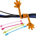 Finger expression router tie wire cable management color random