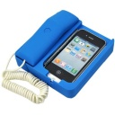 iPhone 4 mobile phone holder / retro matte telephone blue