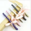 Korean Style Girl's Imitation Pearl Bowknot/Butterfly Tie Hairpin