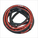 Window D Type Car Vehicle Door Rubber Hollow Noise Insulation Strip - Black