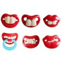 Baby Funny Teether Orthodontic Nipple Soother Food Grade ABS Novelty