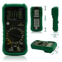 MASTECH MS8239B Pocket Digital Multimeter w/ Battery Test - Black + Green