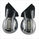 006C Auto Lamp Rearview Mirror With Light--Silver (2PCS)