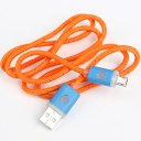 Samsung Galaxy S3 S4 100cm Orange Weave USB Cable Charging Cable