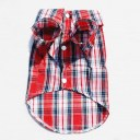 Puppy Dog Clothes Shirt Size Large Red & Blue Colors For Winter Clothing