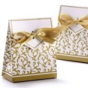 Wedding Favour Candy Boxes Gift Boxes With Ribbons 50pcs