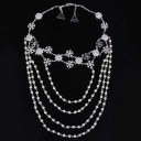 New Handmade Shining Rhinestones Shoulder Chain Necklace Jewelry For Bride