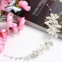 Bridal Flower Crystal Rhinestones Pearls Wedding Hair Clip Jewel Accessories