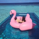Inflatable Flamingo Floating Bed Drainage Environmental Protection Material