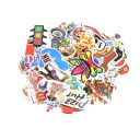 100PCS Skateboard Applique Vinyl Car Sticker Skate Graffiti Laptop Luggage Car