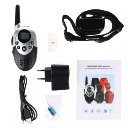 LCD Electric Shock Pet Dog Training Remote Control E-Collar Rechargeable Plastic