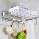 Home Stainless Steel Wall Mounted Towel Rack Brushed Towel Shelf towel holder