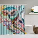 150 x 180cm Colorful Owl Polyester Waterproof Bathroom Shower Curtain w/12 Hooks
