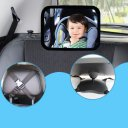 Car Rear View Backseat Headrest Mount Kid Baby Safety Rectangular Mirror Acrylic