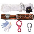 Fire Escape Descending Device Lifesaving Rope Kit Escape Rope Kit  40m