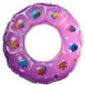 Thicken Color Print Dual Layer Baby Child Inflatable Ring Swim Swimming Colorful