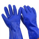 Industrial Labor Protection Gloves Oil Resistant Anti Slip PVC Coated Gloves Blue