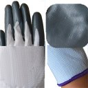 Gluing Nylon Protection Gloves Wear and Oil Resistant Butyronitrile Gloves