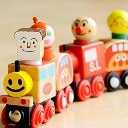 Cute Wooden Toy Magnetic Six Pcs Small Train Cars Vans Educational Toys Children