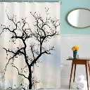 Hot Creative Paraquat Tree Polyester Bathroom Shower Curtain W/12 Plastic Hooks