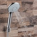 Rain Shower Head, High Pressure Rainfall Showerhead With Brass Swivel Ball