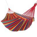 Outdoor Hammock For Two People Canvas Hammock With Cloth Bag Rope Red Colorful Strip