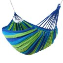 Outdoor Hammock For Two People Canvas Hammock With Cloth Bag Rope Blue Colorful Strip