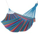 Outdoor Hammock For Two People Canvas Hammock With Cloth Bag Rope Rose Red Colorful Strip