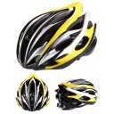 Outdoor Goods Protective Helmet Safety Helmet Unibody Cycling Helmet H015 Yellow+Silver+Black