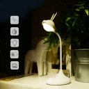 Rabbit Appearance Touch Control Table Lamp Eye Protection Rechargeable White