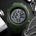 Multifunction Sports Watch Men's Waterproof Outdoor 1305 Army Green