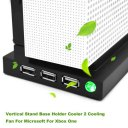 Vertical Stand Base Holder Cooler 2 Cooling Fan For Microsoft For Xbox One