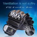 A Pair/Set Comfortable MMA Boxing Gloves Soft PU Half Finger Training Gloves
