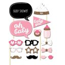 Girls Boys Baby Photo Booth Props Parties Props Shower 20 Pieces In One Set