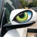 2pcs Lifelike 3D Eyes Car Stickers Reflective Vinyl Decal Fashion Car Decor