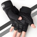 Half-finger Cycling Gloves Weightlifting Protective Gloves with Wrist Guards