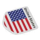 Ameriacan Flag Pattern Square/Shield Shape Stickers Decal Car Window Door