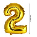 40 inch Number Foil Balloon Digit Air Mylar Ballons Event Party Wedding Decor