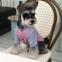 Spring Summer Pet Dog Clothes Fashion Striped Short Sleeve Cool Cotton Shirt