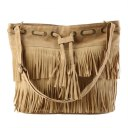 Women Imitation Suede Fringe Tassel Shoulder Bag Handbags Messenger Bag